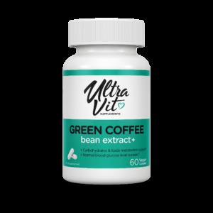 Green Coffee bean extract +, 60  капсул, UltraVit