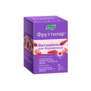 Витамины для беременных ФРУТТИЛАР, жевательные пастилки в форме мармеладных ягод, 30 шт., Эвалар