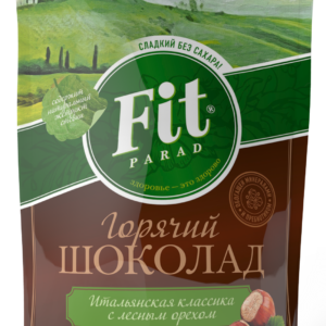Горячий шоколад со вкусом лесного ореха, 200 гр, Fit Parad