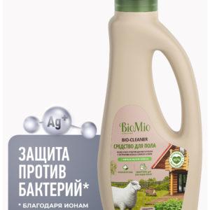 Антибактериальное гипоаллергенное чистящее эко средство для пола с эфирным маслом «Мелисса», 750 мл, BioMio