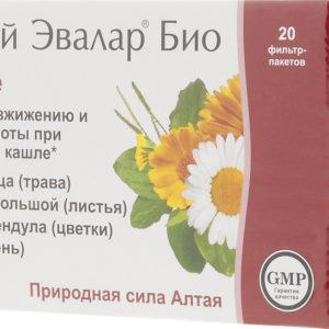Чай Эвалар БИО при кашле, 20 фильтр-пакетов