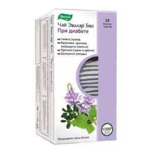 Чай Эвалар БИО при диабете, 20 фильтр-пакетов