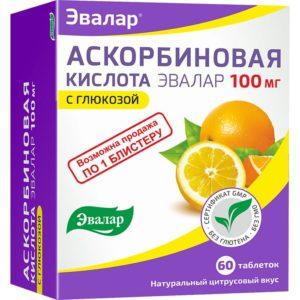 Аскорбиновая кислота, 60 таблеток, Эвалар