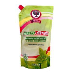 Антибактериальное концентрированное средство для мытья посуды «Зеленый чай» (запасной блок) , 600 мл, MAMA LEMON