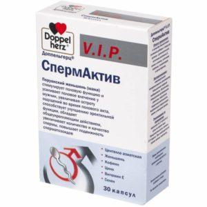 СпермАктив (1020 мг), серия VIP, 30 капсул, Доппельгерц